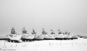 7056 Winter Boat Storage, Hokkaido, Japan