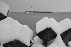 7059 Port and Lighthouse at Oumu, Hokkaido, Japan