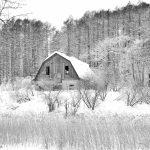 7062 Winter Landscape, Barn in Oumu, Hokkaido, Japan
