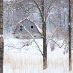 7063 Winter Landscape, Barn in Oumu, Hokkaido, Japan