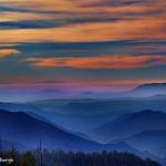 1075 Sunset, Fog, Yosemite National Park