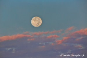 1525 Sunrise, Full Moon, Hagerman National Wildlife Refuge, TX
