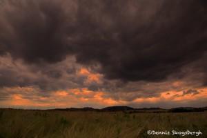 1609 Sunset, Storm Clouds