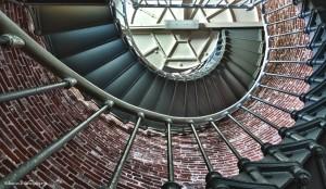 1227 Umpqua Lighthouse, spiral staircase