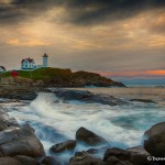 1678 Sunset, Nubble Lighthouse, Cape Neddick