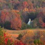 1719 Evening, Primitive Baptist Church, Cade's Cove