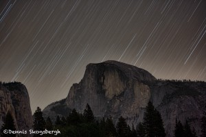 1743 Star Trails, Half Dome
