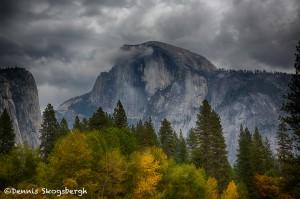 1751 Half Dome, Autumn Color, Brewing Snow Storm,