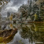 1758 Merced River, Autumn Color, Snowfall