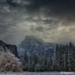 1760 Half Dome, Yosemite Meadow, Winter Storm Clouds