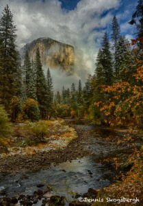 1763 El Capitan, Fog, Autumn Color
