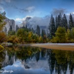 1777 Half Dome, Autumn Color, Recent Snow