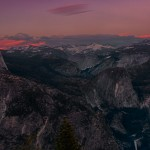 1812 Sunset, Half Dome, Glacier Point, June