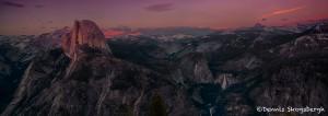 1812 Sunset, Half Dome, Glacier Point, June