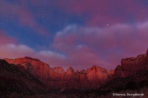 6075 Pre-dawn Colors, West Temple and Towers of the Virgin, Zion National Park, UT
