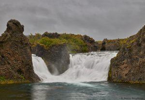 7124 Hjalparfoss Waterfall, Iceland