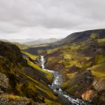 7148 Highland Valley Below Haifoss and Granni Waterfalls, Iceland
