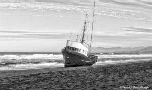 6069 Grounded Fishing Boat, Salmon Creek Beach, Sonoma, California