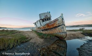 6086 Sunset, Grounded Fishing Boat, Inverness, California