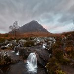7165 Sunrise, Buachaillie Etive Mor, Waterfall, Glencoe, Scotland