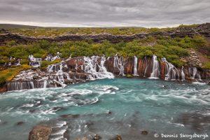 7537 Hraunfossar (Borgarfjörður) Waterfalls, Western Iceland
