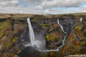 7540 Haifoss and Granni Waterfalls, Iceland